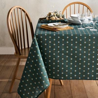 Bedrukt tafellaken anti-vlekken, Mina groen Bedrukt tafellaken anti-vlekken, Mina groen LA REDOUTE INTERIEURS