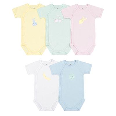 Confezione 5 body nascita maniche corte prematuro-2 anni Confezione 5 body  nascita maniche corte e86046f795a