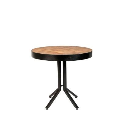 Table Bois Et Acier Noir La Redoute