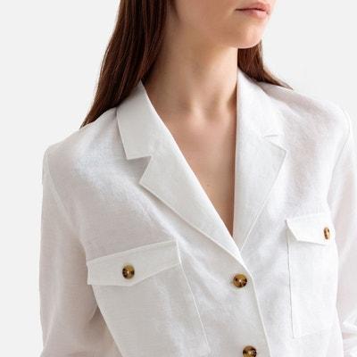 cheap detailed images premium selection Chemise lin blanc femme | La Redoute