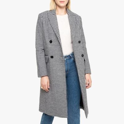 Manteau ecossais noir et blanc