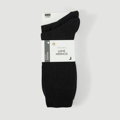 964093b453115 Lot de 2 paires de chaussettes en laine Lot de 2 paires de chaussettes en  laine