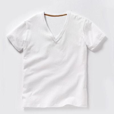 7670c56b8af7 Tee shirt col V profond Oeko Tex