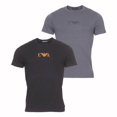 f4f5ecea792d Lot de 2 tee-shirts col rond en coton stretch et Lot de 2 tee. Soldes. EMPORIO  ARMANI