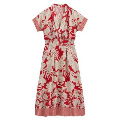 ef0ac00646ec9b Halflange kimono jurk met bloemenmotief LA REDOUTE COLLECTIONS