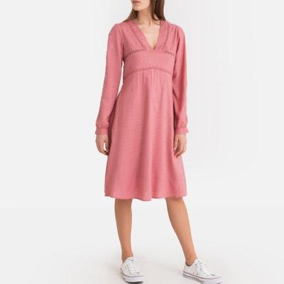 3a68bc01a68b2e Wijde jurk met lange mouwen LA REDOUTE COLLECTIONS