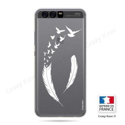 6b135f91a88 Coque Huawei P10 Plus souple motif Plume et envol d oiseaux - Crazy Kase  CRAZY