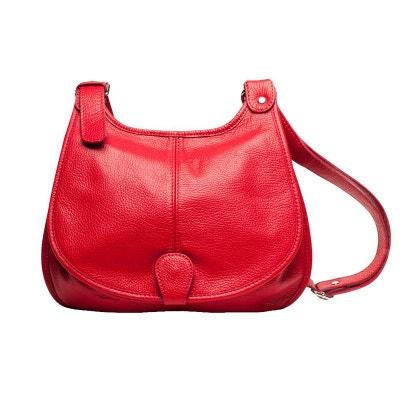 Sac bandoulière rouge femme | La Redoute