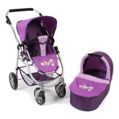 22060fd70844 Bayer Chic 2000 638 28 La poussette poupée combinée 2 en 1 EMOTION - Purple  Checker