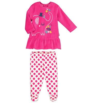 f61ab4c7f8005 Pyjama bébé 2 pièces velours avec pieds Me and You Pyjama bébé 2 pièces  velours avec