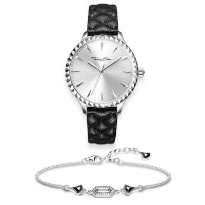 fbd1273311ba8 Montre Pour Femme Rebel At Heart Avec Bracelet Armband & Uhr Argent  Sterling 925, Noirci