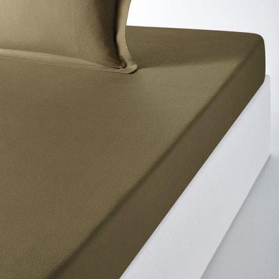 drap plat vert lit de 90 la redoute. Black Bedroom Furniture Sets. Home Design Ideas