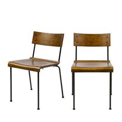 Chaise Plastique Et Bois