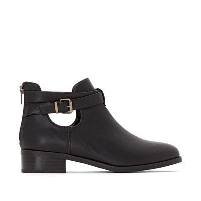 1722bb9c41a Boots basse avec fermeture cote femme noires