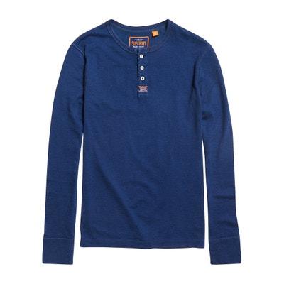 35446152663 T-shirt met tuniekhals HERITAGE GRANDAD SUPERDRY