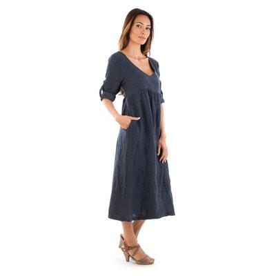b8290471cca Robe longue ample lin passion Robe longue ample lin passion DOUCEL
