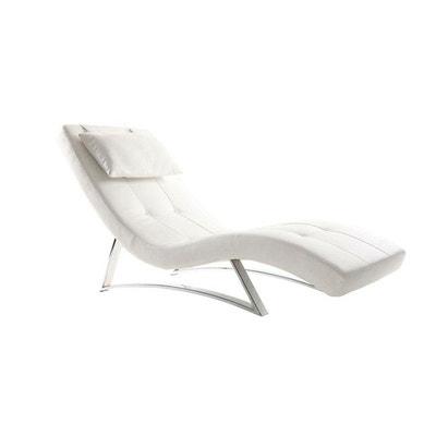 Chaise longue cuir | La Redoute on chaise furniture, chaise sofa sleeper, chaise recliner chair,
