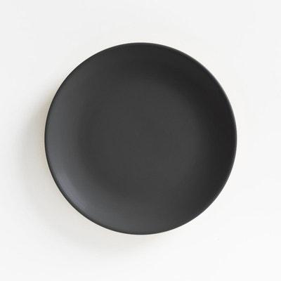 Ovale Assiette//assiettes//vaisselle//21,5 X 13 cm Mélamine Noir mat