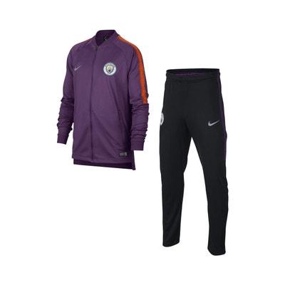 9b9deda232d Survêtement Entraînement Manchester City Squad Violet Noir Junior NIKE