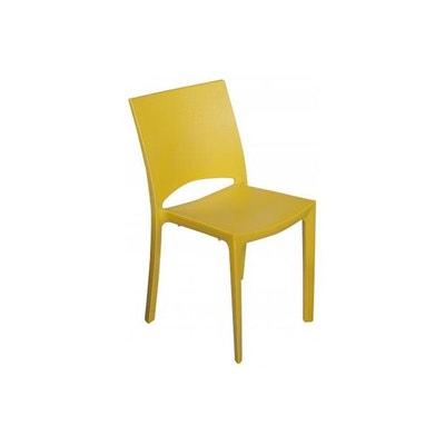 Chaise Design Jaune Effet Croco MILLY DECLIKDECO