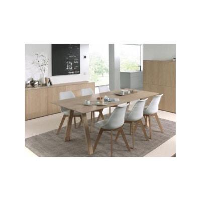 db2e2d420dded7 Table de Repas extensible en Chêne massif naturel 180 232x90x76cm EPURE  Table de Repas extensible