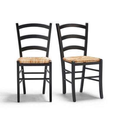 chaise noire la redoute. Black Bedroom Furniture Sets. Home Design Ideas