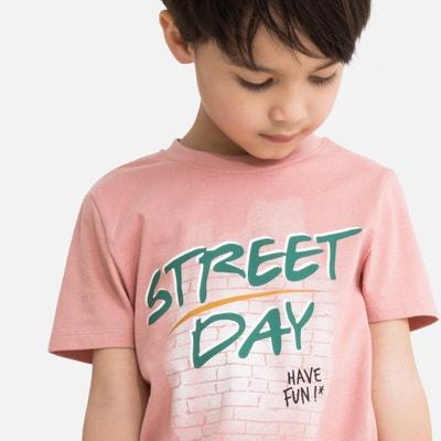 9bbe73a28 Camiseta con cuello redondo y motivo delante