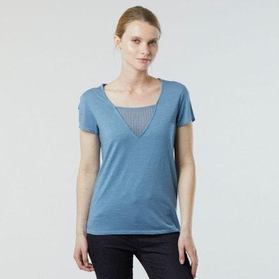 Lee Cooper Peigne coton t shirt femme à encolure ras-du-Cou Tee Top à manches courtes