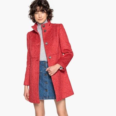 1855b7b5b30 Abrigo de lana mezclada con cuello alto Abrigo de lana mezclada con cuello  alto LA REDOUTE