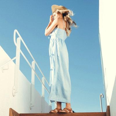 4b39faab6 Linen Maxi Dress with Bow Detail Linen Maxi Dress with Bow Detail LA  REDOUTE COLLECTIONS