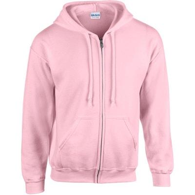 Pull à capuche rose homme | La Redoute
