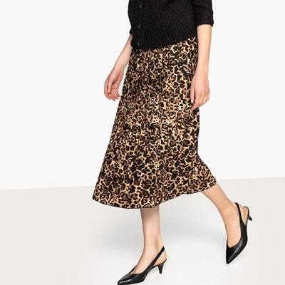 a688b481244 Jupe plissée imprimée léopard LA REDOUTE COLLECTIONS