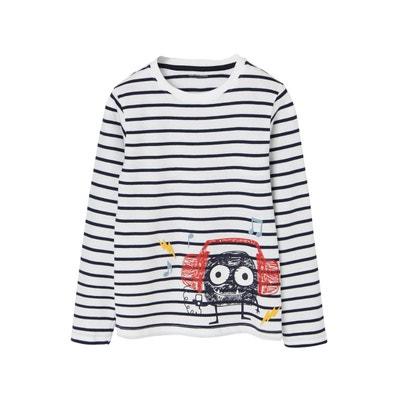 5cd7484465cbf T-shirt rayé garçon monstre rigolo VERTBAUDET