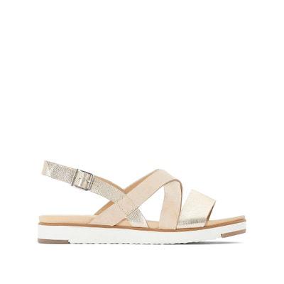 6e6c51c8c724b Dual Fabric Flat Sandals Dual Fabric Flat Sandals ANNE WEYBURN