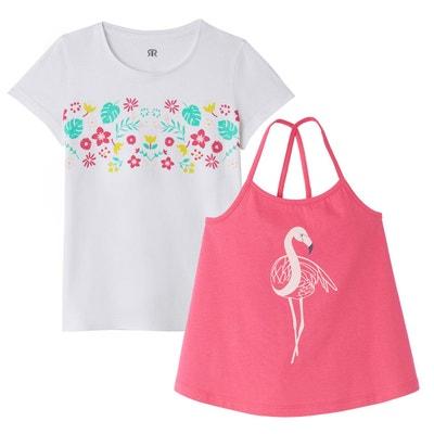 f0ad6389ba6b5 Lot de 2 T-shirts imprimés 3-12 ans LA REDOUTE COLLECTIONS. (1)