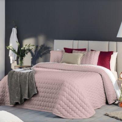 couvre lit rose la redoute. Black Bedroom Furniture Sets. Home Design Ideas