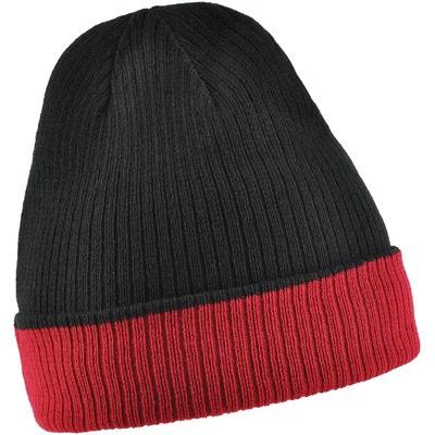 530949c6dd Bonnet réversible UMA Noir - Rouge ALLEE DU FOULARD