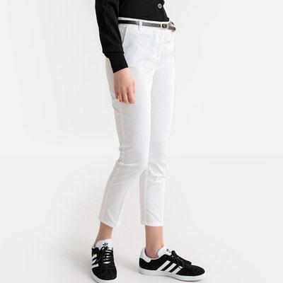 e30ec4778acf Pantalon coton blanc femme
