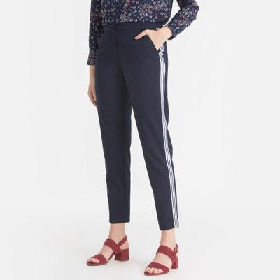 Slim broek met stroken opzij Slim broek met stroken opzij IKKS