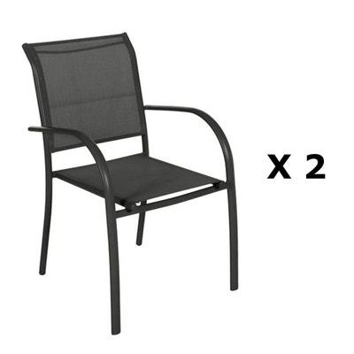 Chaise de jardin noire   La Redoute