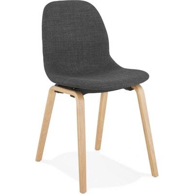 Chaise bois tissu   La Redoute