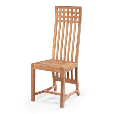chaise salle a manger bois massif la redoute. Black Bedroom Furniture Sets. Home Design Ideas