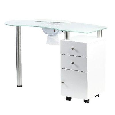 ea98de16e7816b Table manucure avec aspirateur et plateau en verre COSMETICS UNITED