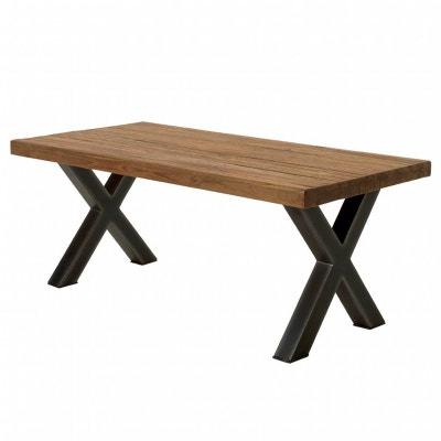 Table a manger bois massif en solde la redoute Table bois metal extensible