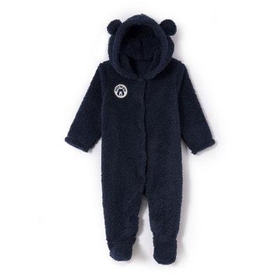 bac7ef15df487 Surpyjama à capuche ours en polaire 0 mois - 3 ans Surpyjama à capuche ours  en
