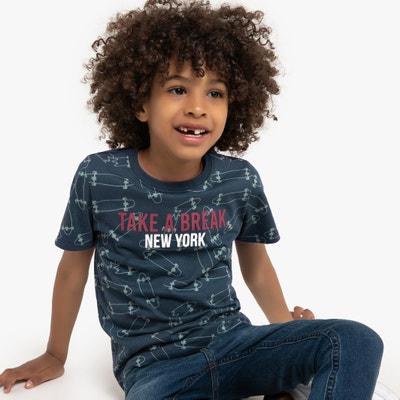 T-shirt met ronde hals en skate print 3-12 jaar T-shirt met ronde hals en skate print 3-12 jaar LA REDOUTE COLLECTIONS