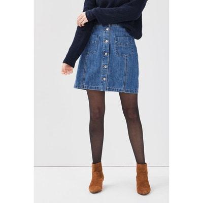 Jupe en jean boutonnée | La Redoute