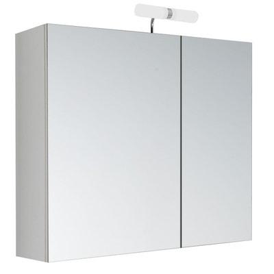 Armoire De Toilette Avec LED Kléo   2 Portes   60 X 60 Cm Armoire De