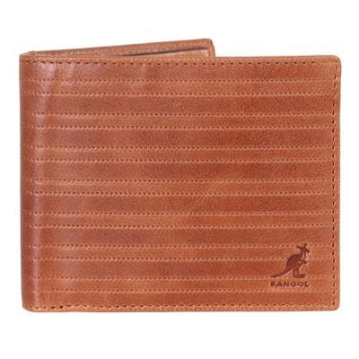 967b2c6a7fe Portefeuille en cuir véritable KANGOL
