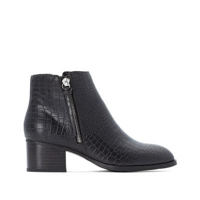 Boots met ritssluiting zijkant, croco effect Boots met ritssluiting zijkant, croco effect LA REDOUTE COLLECTIONS